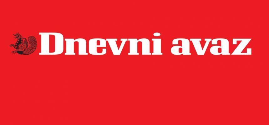 A Dnevni avaz című napilap cikke konferenciánkról, Bosznia-Hercegovinából